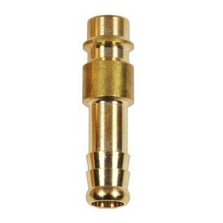 Druckluft Stecknippel Messing Tülle 6 mm