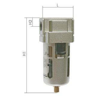 Druckluft Filter EcoLine halbautomatische Entwässerung