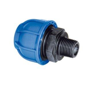 Druckluftleitung Gerader Einschraubverbinder Kunststoffgewinde