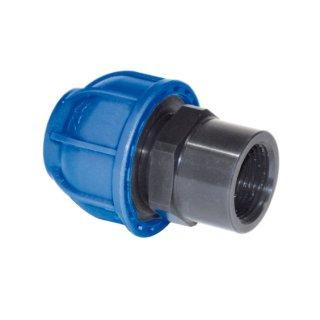 Druckluftleitung Gerader Aufschraubverbinder Innengewinde Kunststoff