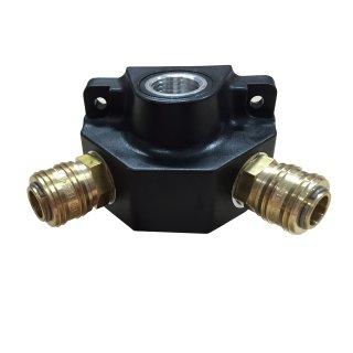 Druckluftverteiler Wanddose Druckluftdose Luftverteiler mit 2 Kupplungen