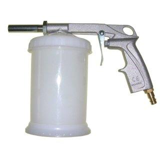 Sandstrahlpistole mit Kunststoffbecher