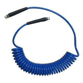 Spiral Druckluftschlauch Polyurethan PU sehr weich und flexibel